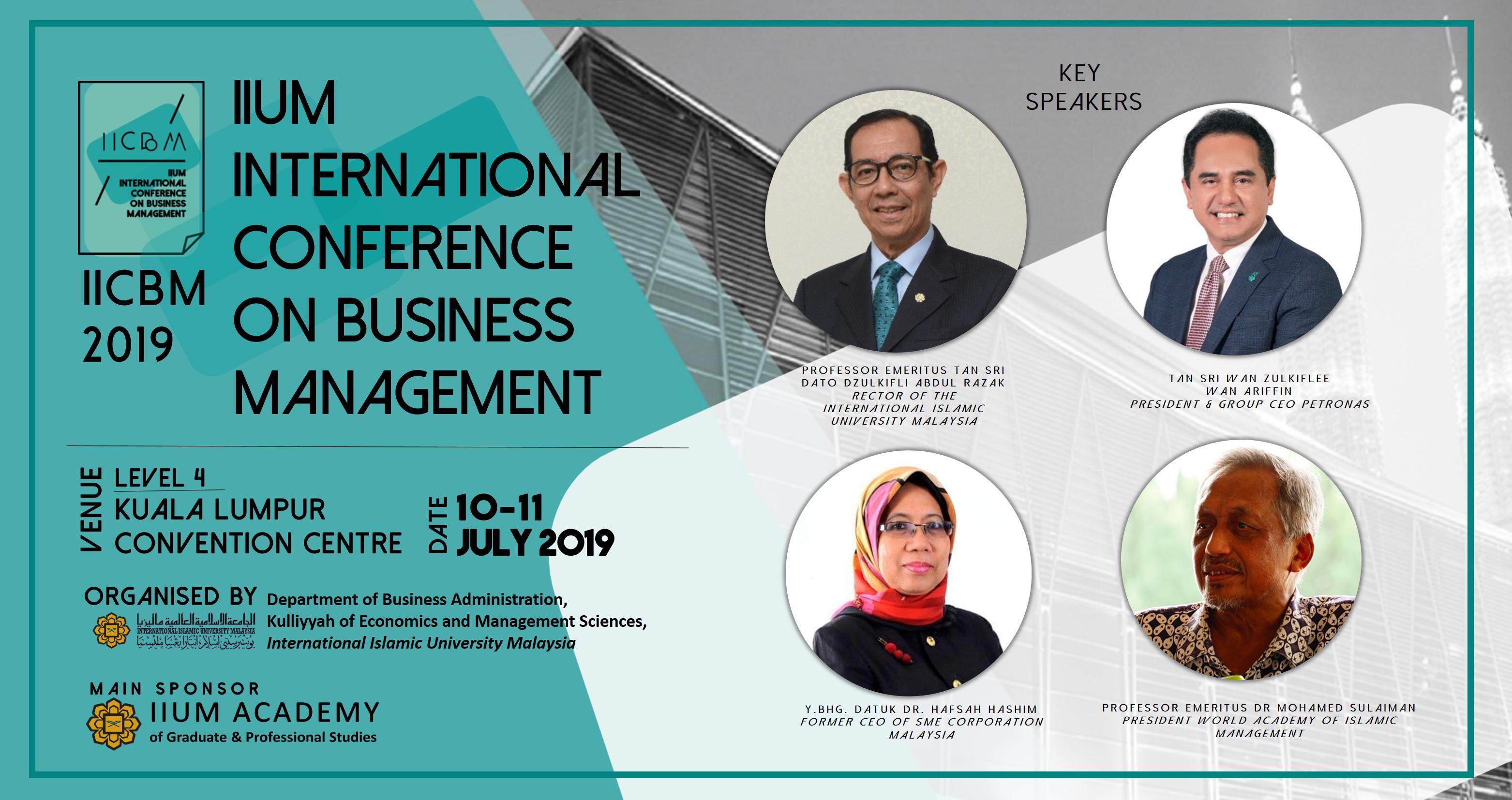 IIUM International Conference on Business Management (IICBM 2019)