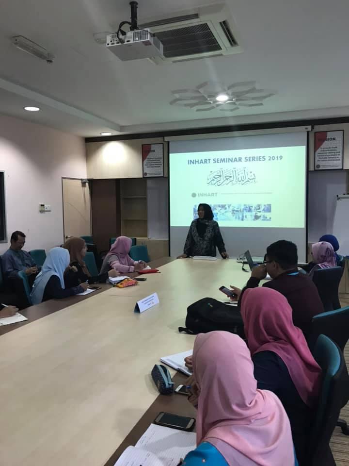 INHART Seminar Series 4, 2019
