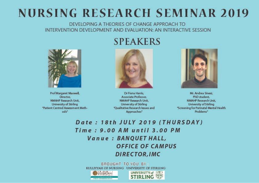 Nursing Research Seminar 2019