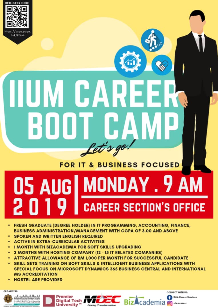 IIUM Career Bootcamp for IT & Business Focused