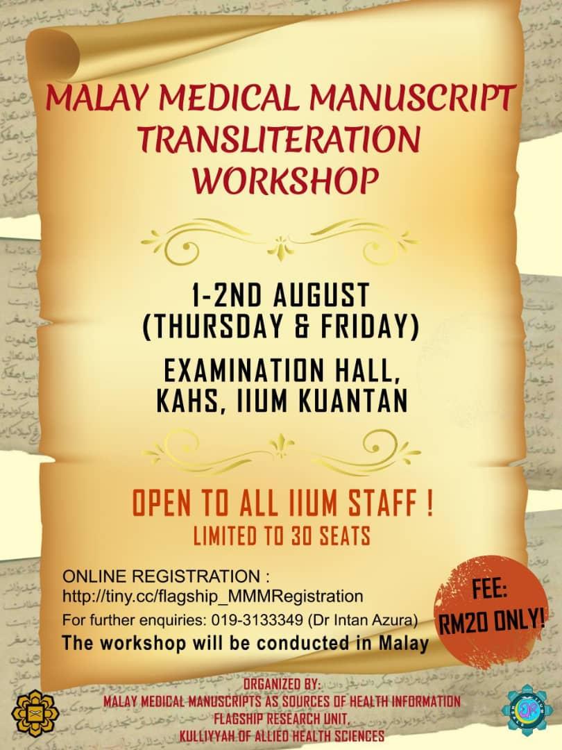 Malay Medical Manuscript Transliteration Workshop