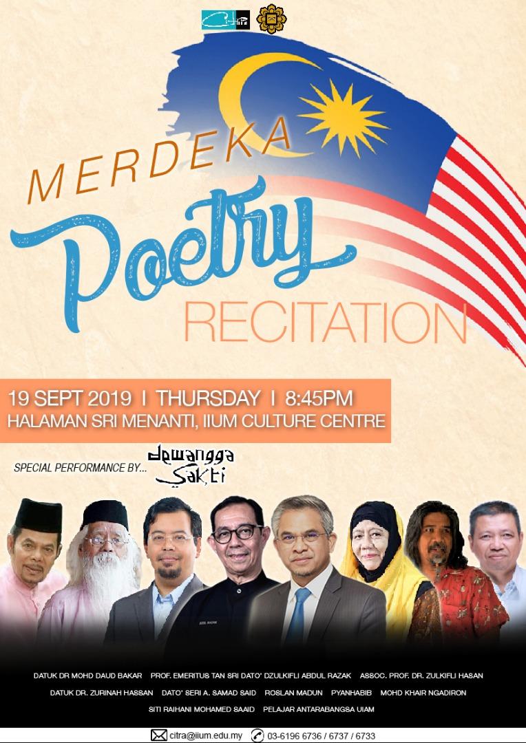 'Merdeka' Poetry Recitation