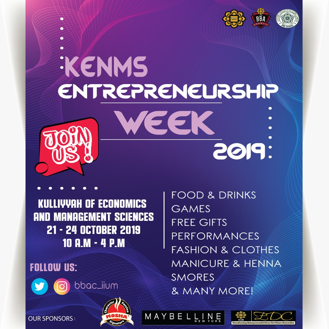 KENMS Entrepreneurship Week 2019