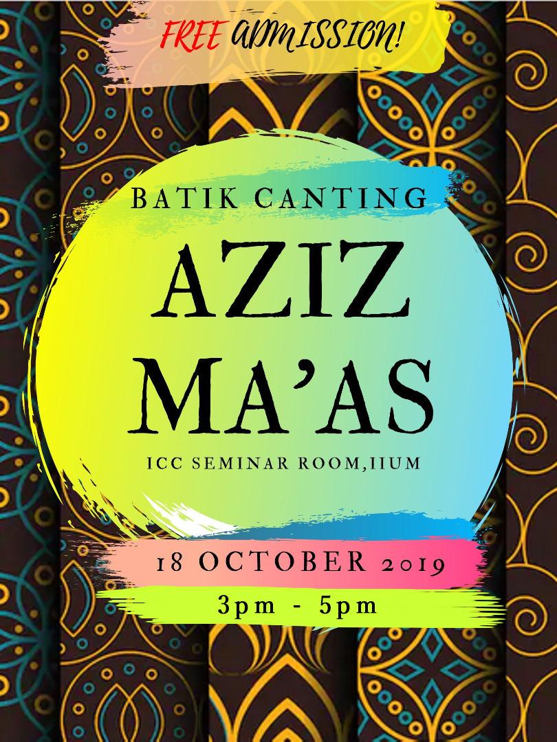 Batik Canting Aziz Ma'as