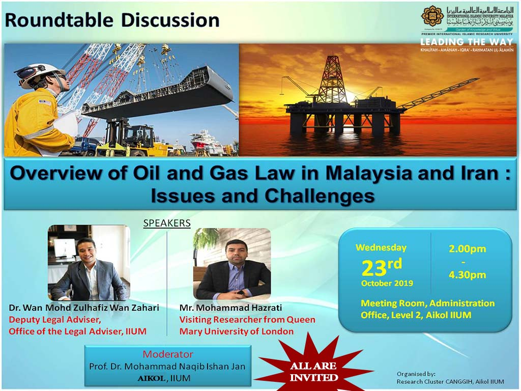 Overview of Oil and Gas Law in Malaysia and Iran: Issues and Challenges
