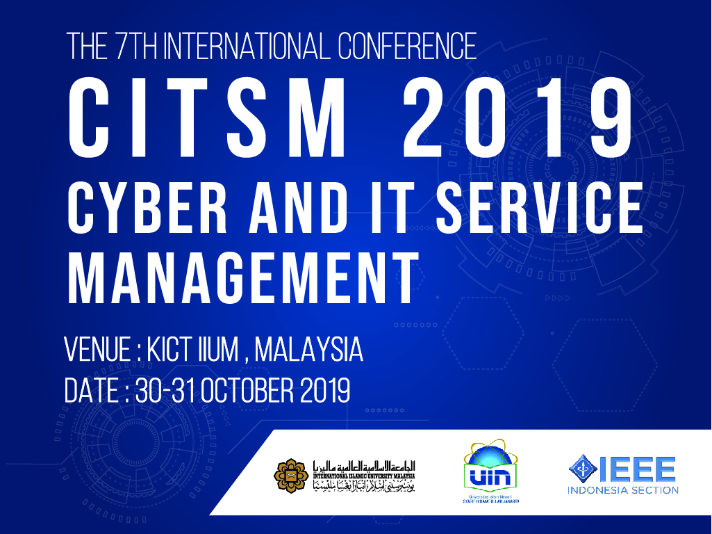 Cyber and IT Service Management CITSM 2019