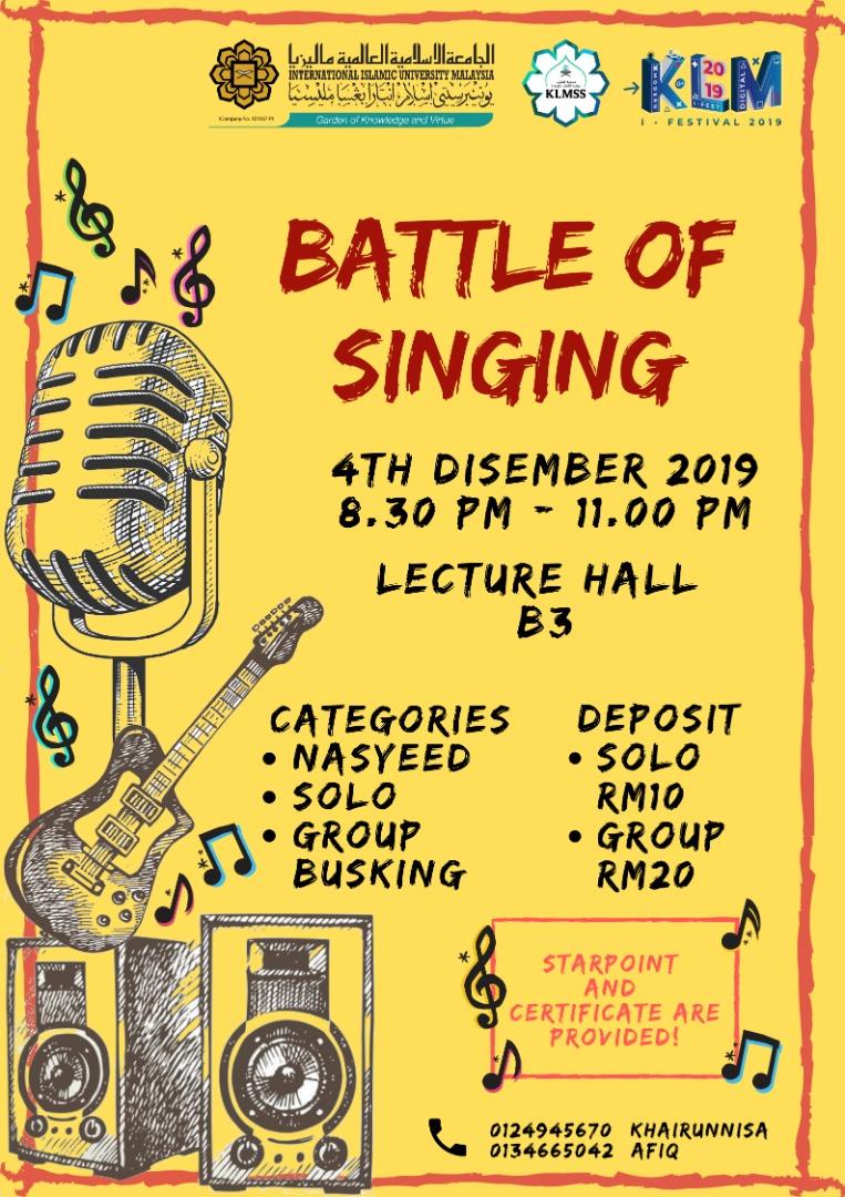 KLM I-Fest : Battle of singing