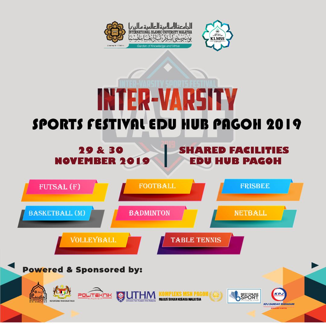 Inter-varsity sports festival Edu Hub Pagoh 2019