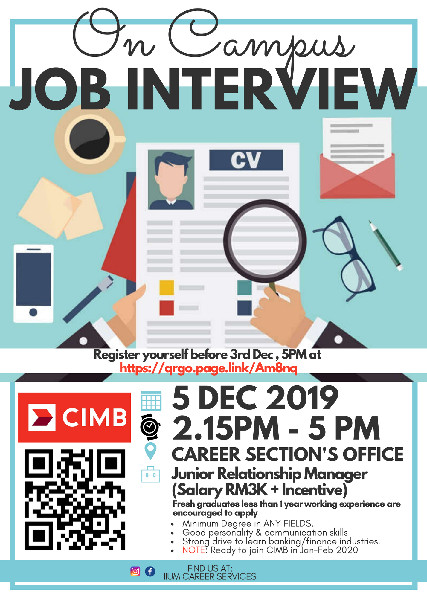 ON CAMPUS JOB INTERVIEW WITH CIMB
