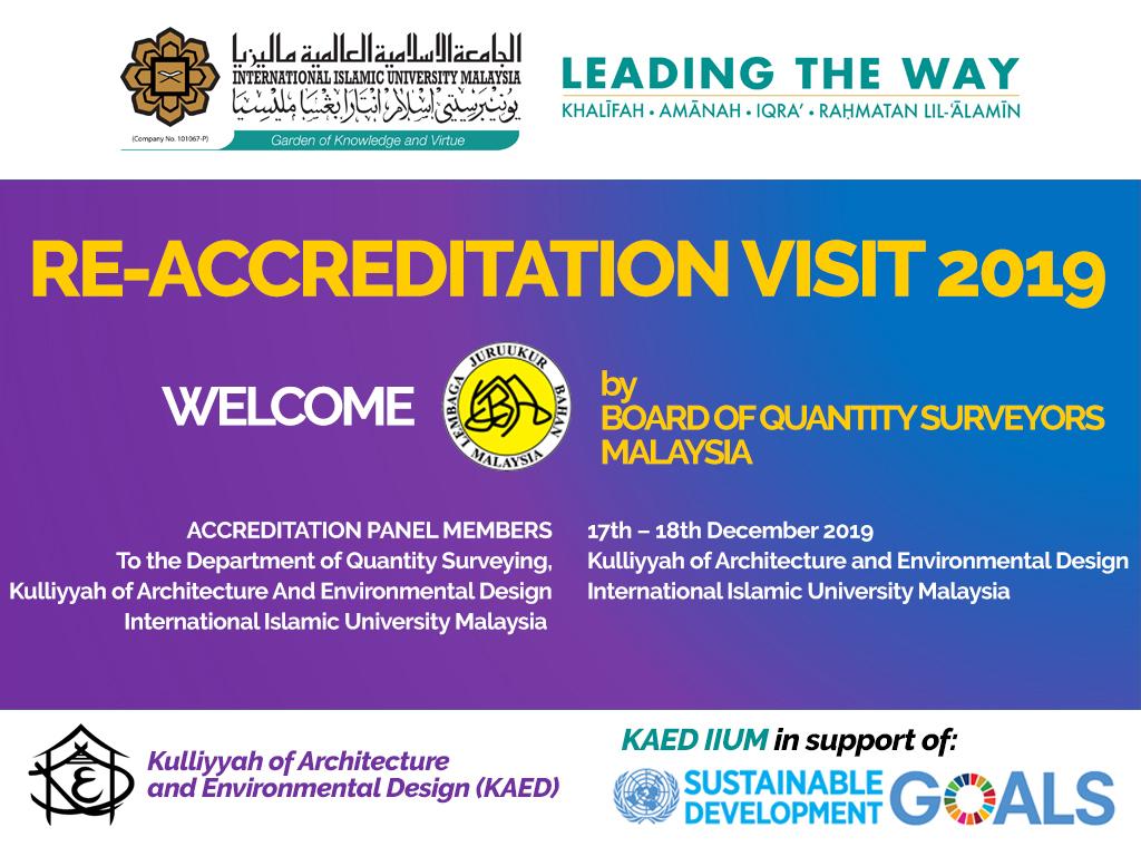 Re-Accreditation Visit 2019