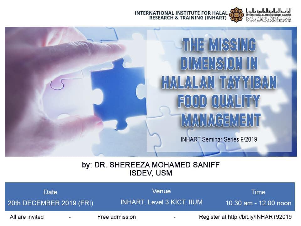 INHART Seminar Series 9 /2019