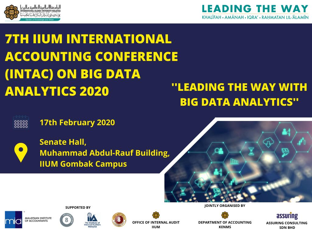 7th IIUM International Conference on Big Data Analytics (INTAC 2020)