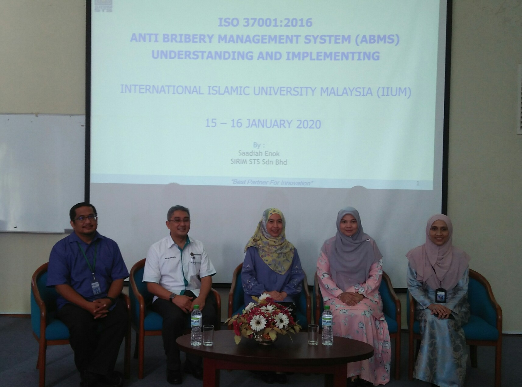 TRAINING ON ISO 37001 ANTI-BRIBERY MANAGEMENT SYSTEM (ABMS)