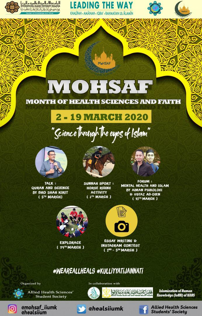 Month of Health Sciences and Faith (MoHSAF) is back!
