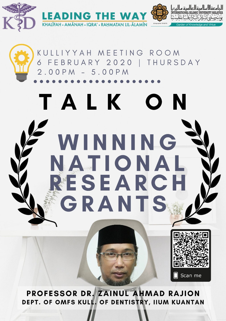 Talk on Winning National Research Grants
