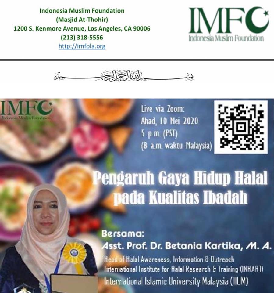 Halal Webinar for Masjid At-Thahir Los Angeles California