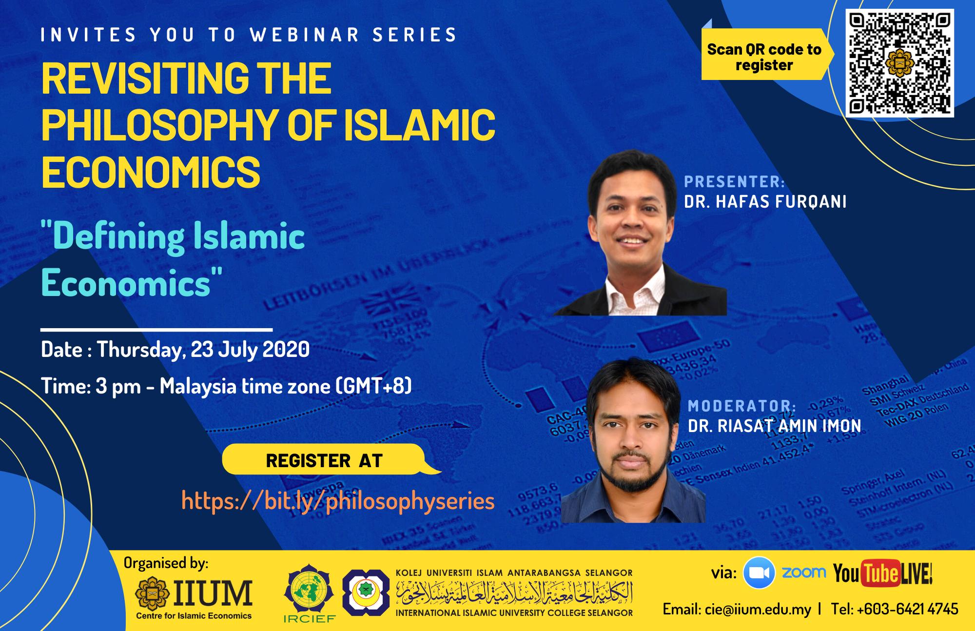 Revisiting The Philosophy of Islamic Economics - DEFINING ISLAMIC ECONOMICS