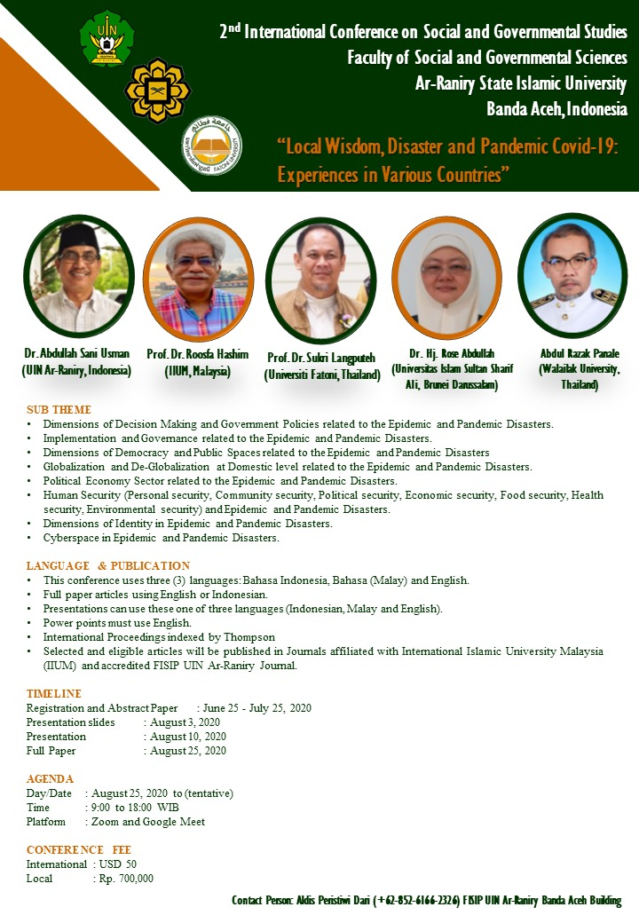 2ND INTERNATIONAL CONFERENCE ON SOCIAL AND GOVERNMENT STUDIES