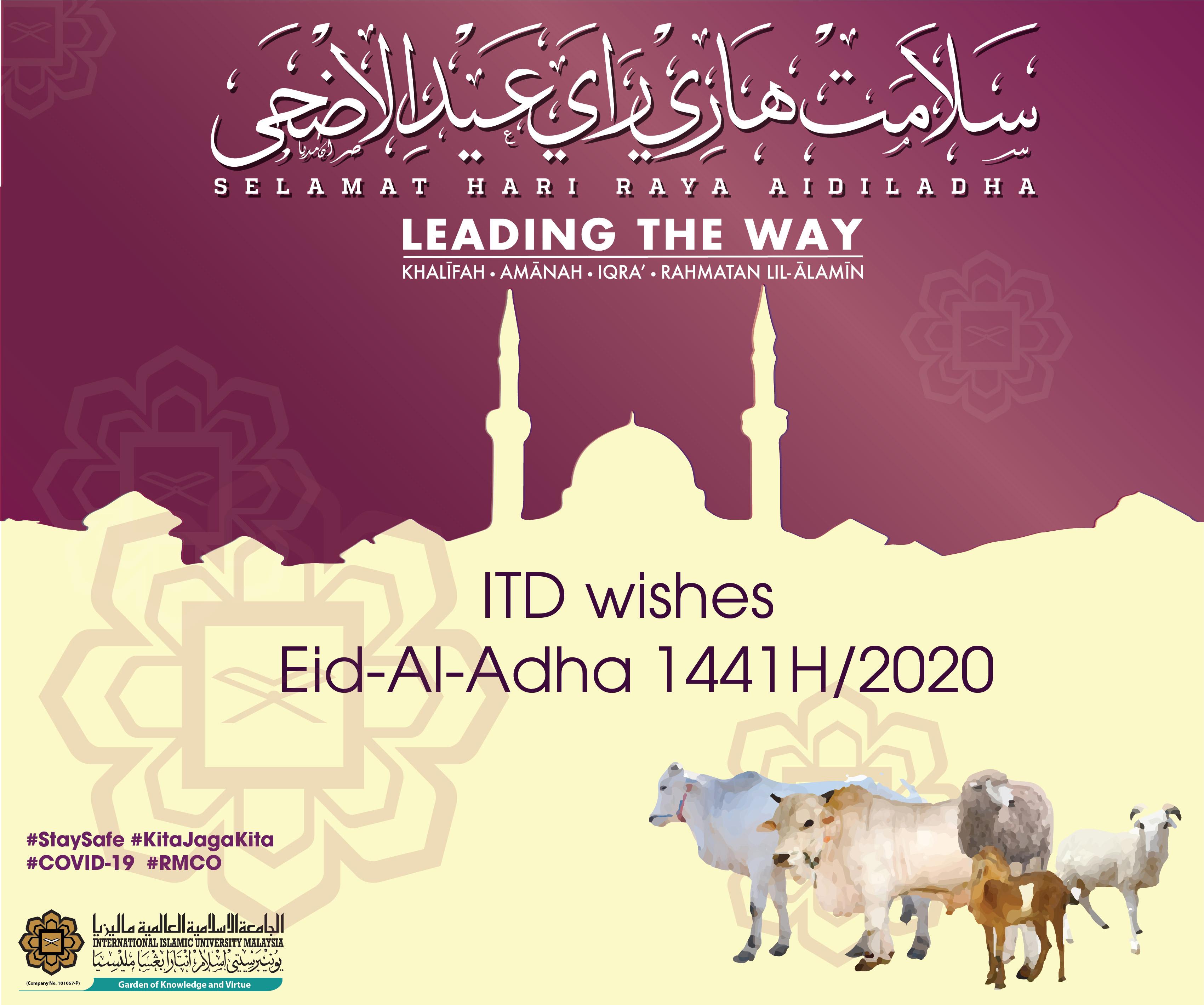 ITD Eid-Al-Adha 2020/1441H