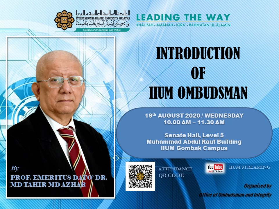 Briefing on Introduction of IIUM Ombudsman
