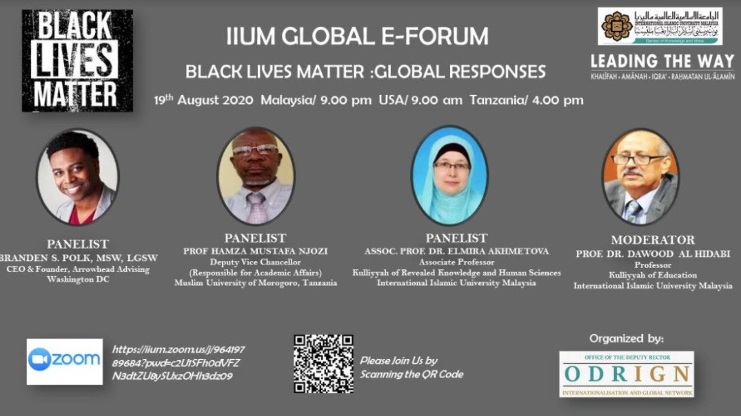 "GLOBAL E-FORUM ""BLACK LIVES MATTER : GLOBAL RESPONSES"""