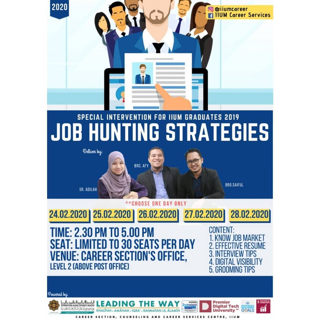 Special Intervention for 2019 IIUM Graduates - Job Hunting Strategies