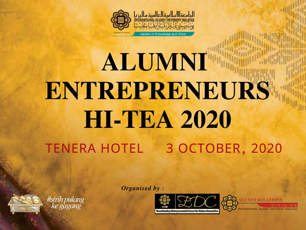 Alumni Entrepeneurs Hi-Tea 2020