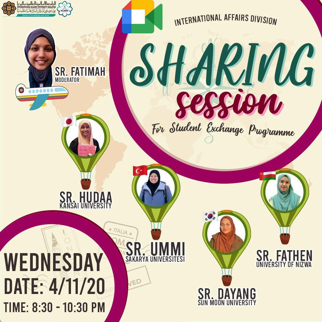 Sharing Session for Student Exchange Programme