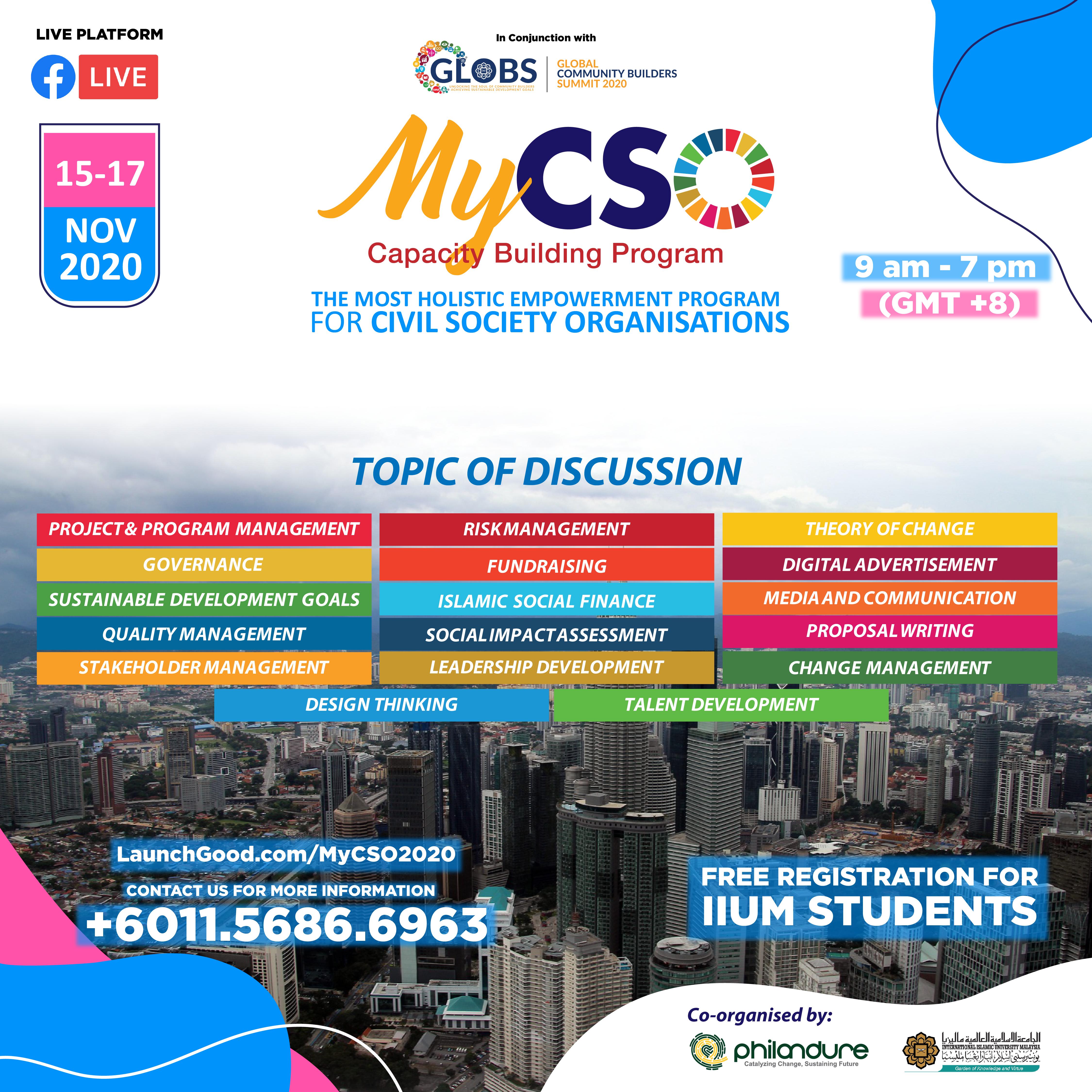 MyCSO : Capacity Building Program