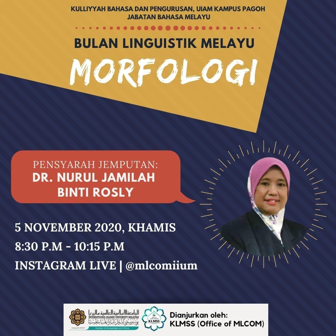 Bulan Linguistik Melayu : Morfologi