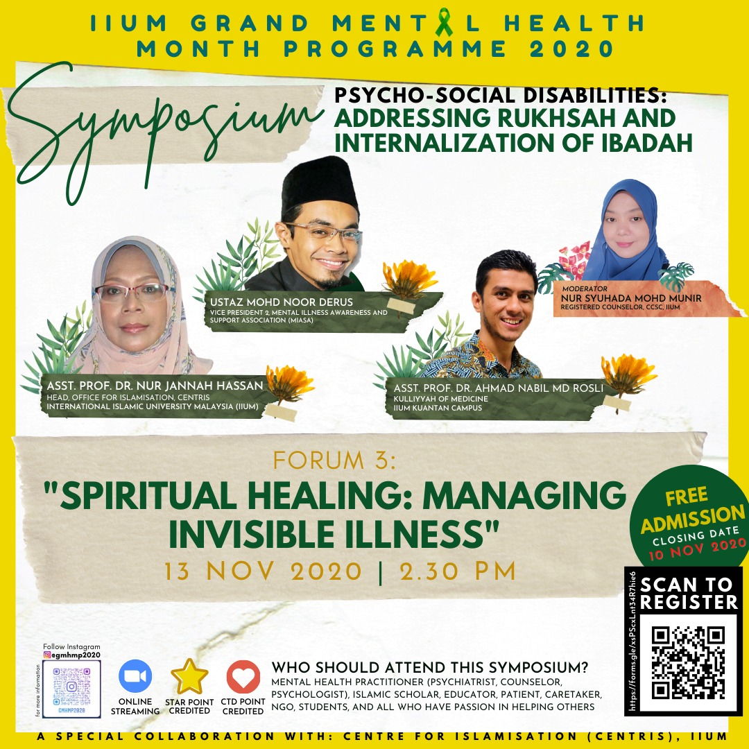 "​""SPIRITUAL HEALING: MANAGING INVISIBLE ILLNESS"""