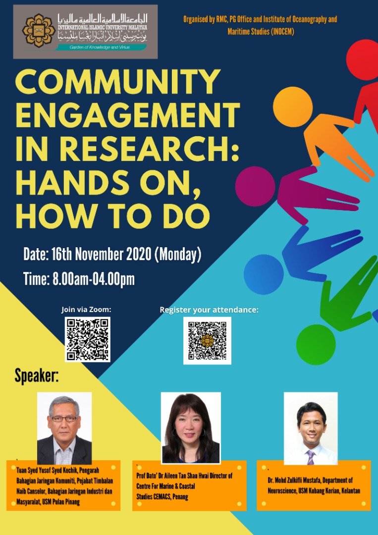 WORKSHOP ON COMMUNITY ENGAGEMENT IN RESEARCH: HANDS ON, HOW TO DO