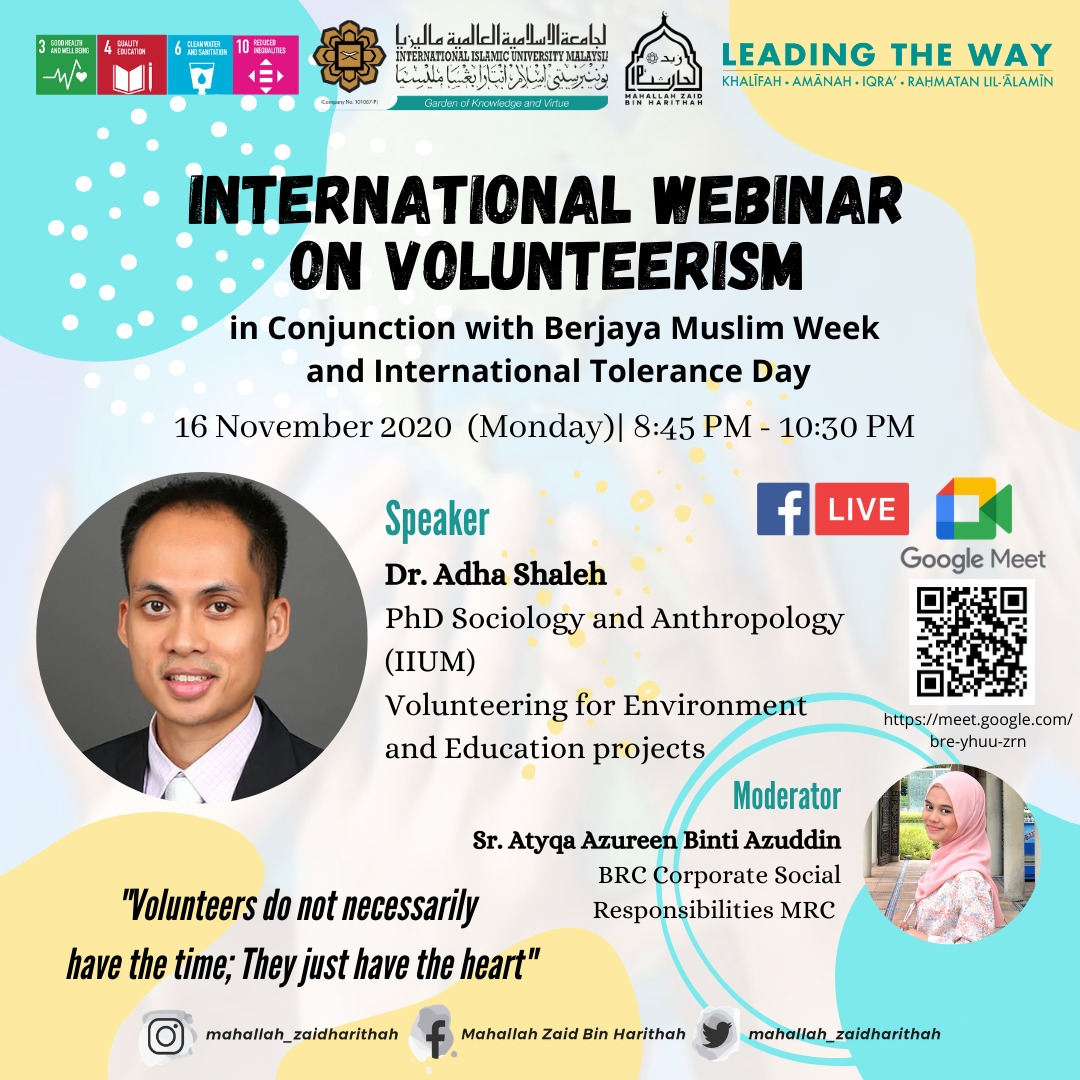 International Webinar on Volunteerism
