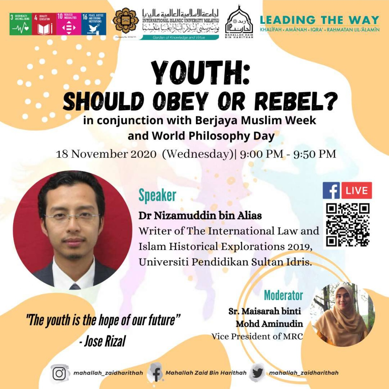 Youth : Should obey or rebel?