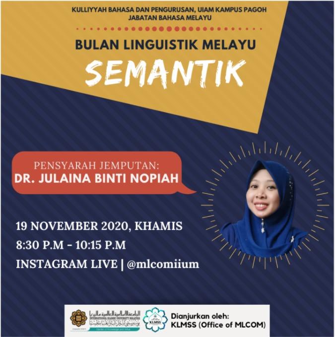 Bulan Linguistik Melayu : Semantik