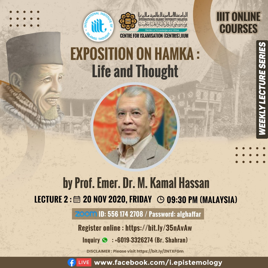 Exposition on HAMKA: Life and Thought by Prof. Emer. Dr. M. Kamal Hassan