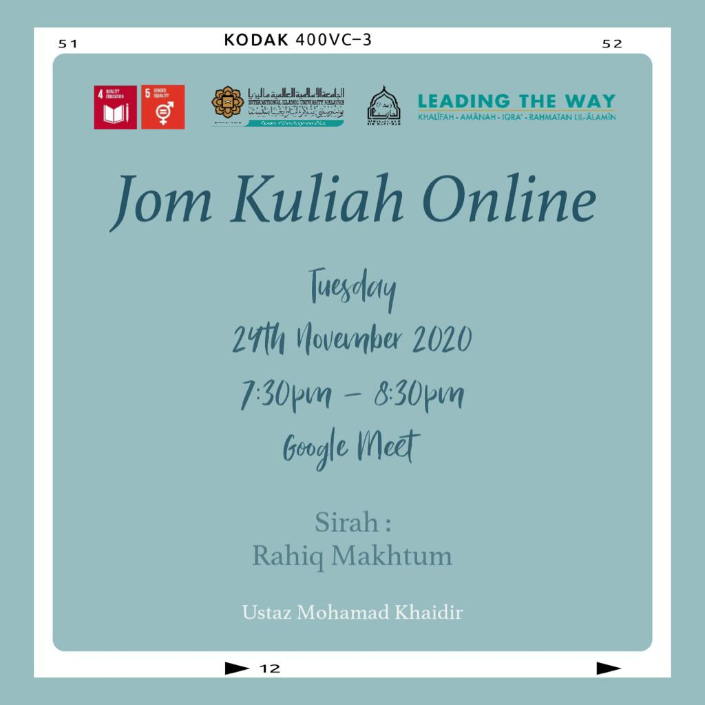 Jom Kuliah Online - Rahiq Maktum