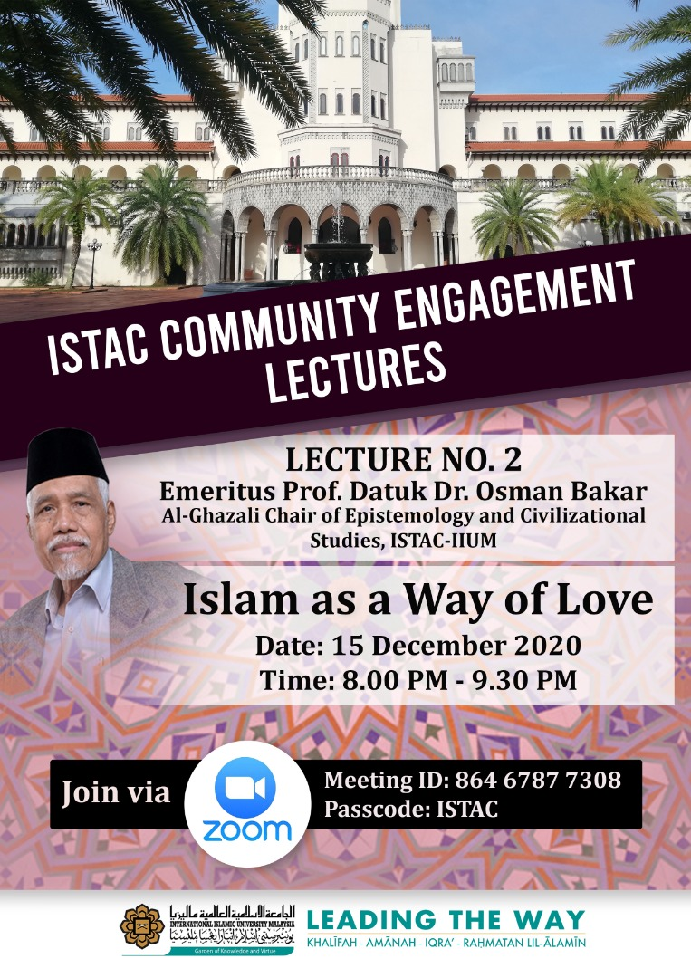 ISTAC COMMUNITY ENGAGEMENT LECTURES