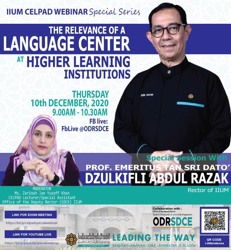 CELPAD Special Webinar Series: The Relevance of a Language Center at Higher Learning Institutions