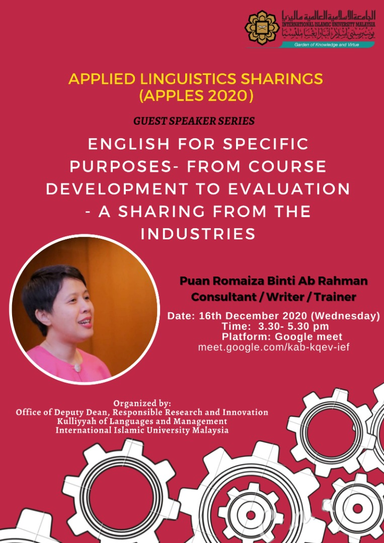 Applied Linguistics Sharings (APPLES 2020)