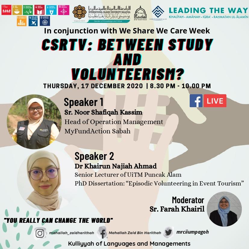 CSRTV : Between Study and Volunteerism