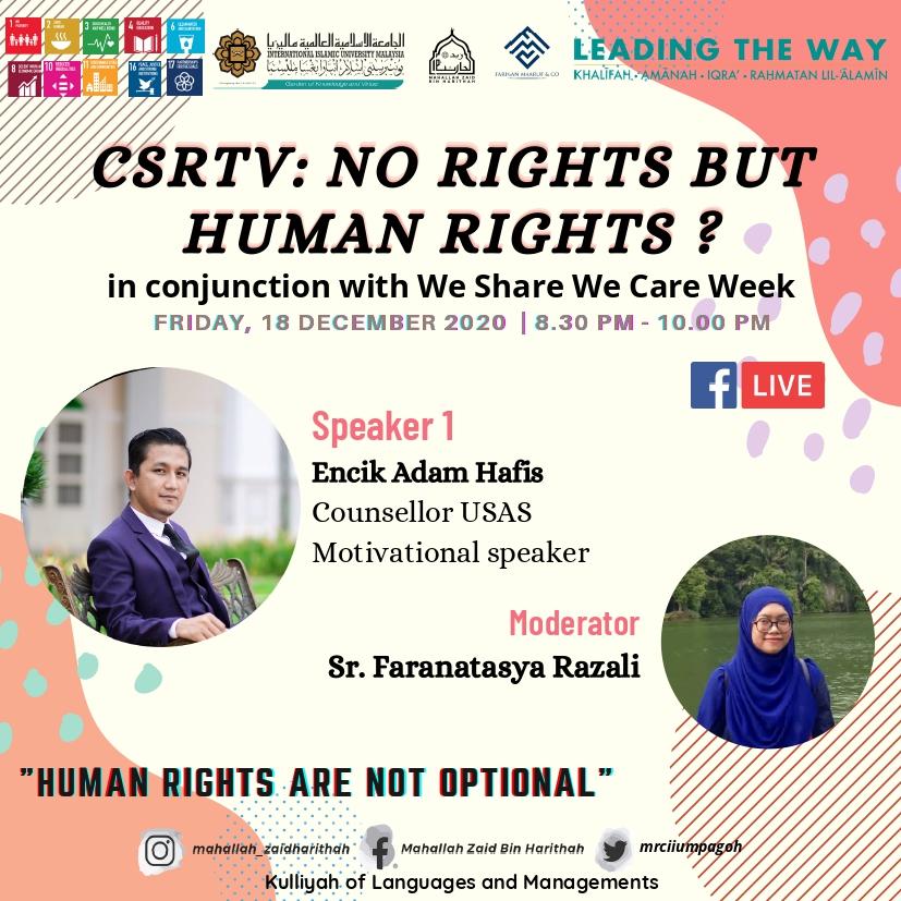 CSRTV : No Right But Human Rights?