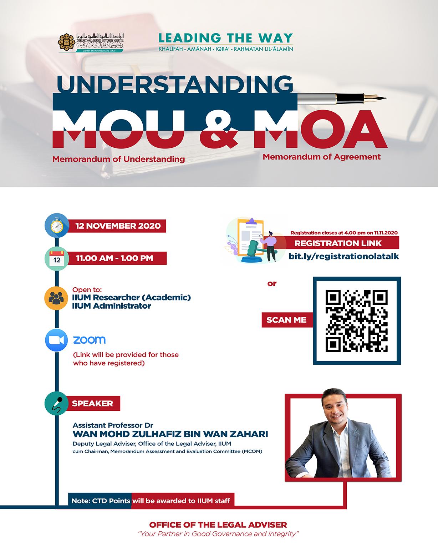 TALK ON UNDERSTANDING MOU & MOA
