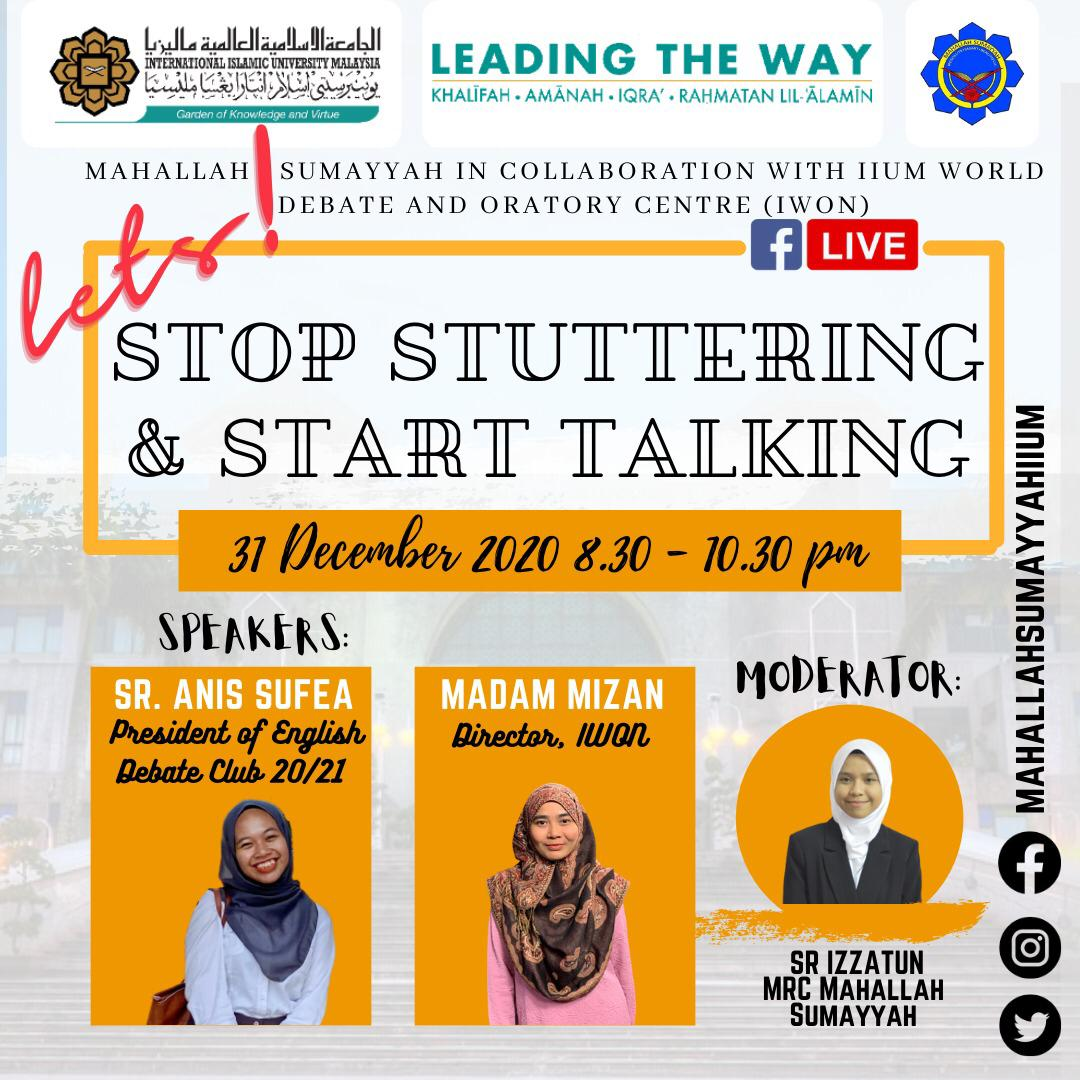 FB LIVE: LETS STOP STUTTERING & START TALKING