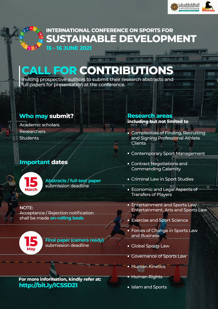 INTERNATIONAL CONFERENCE ON SPORTS FOR SUSTAINABLE DEVELOPMENT (15 - 16 JUNE 2021)