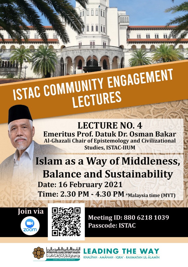 ISTAC COMMUNITY ENGAGEMENT LECTURES - LECTURE NO. 4
