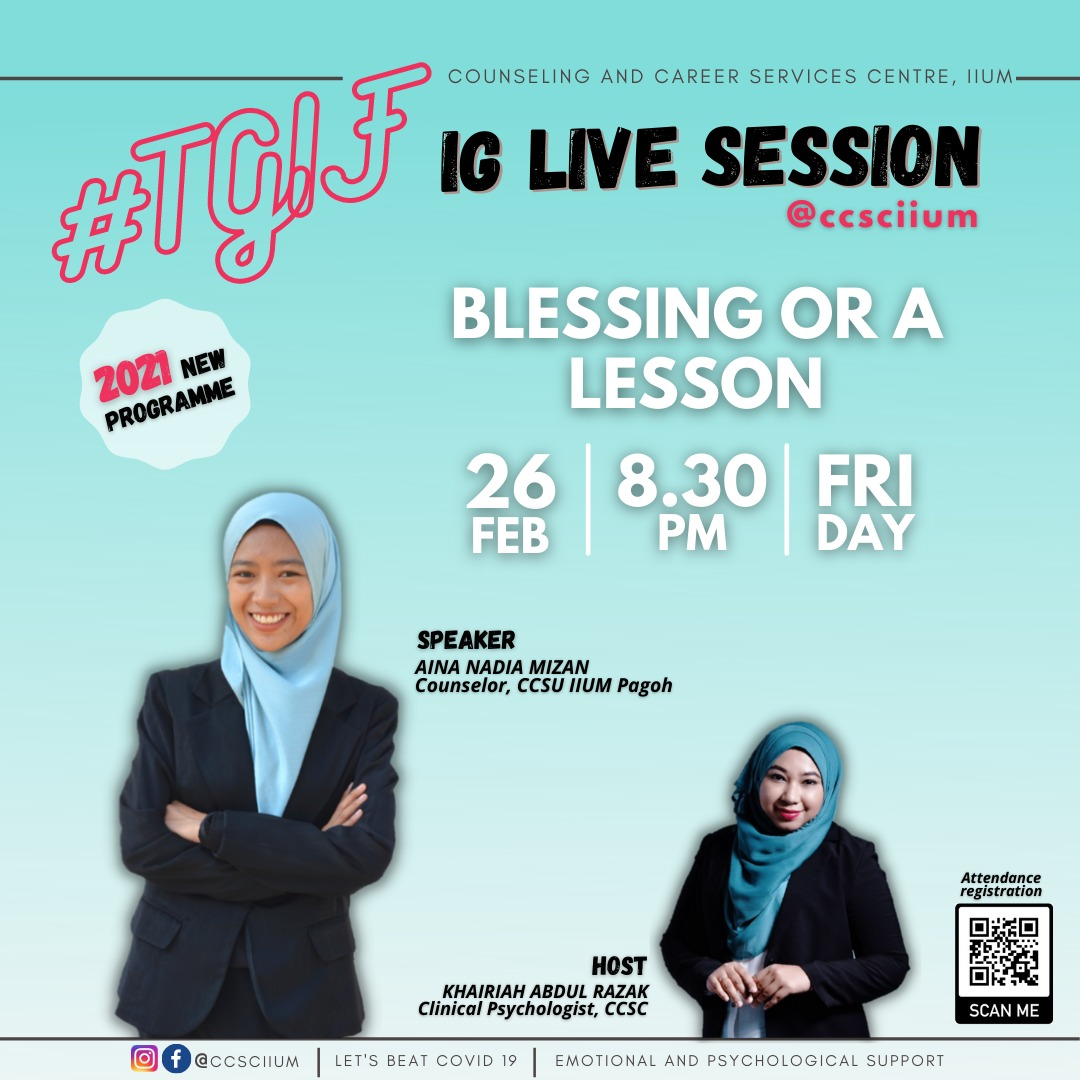 #TGIF IG LIVE SESSION: BLESSING OR A LESSON
