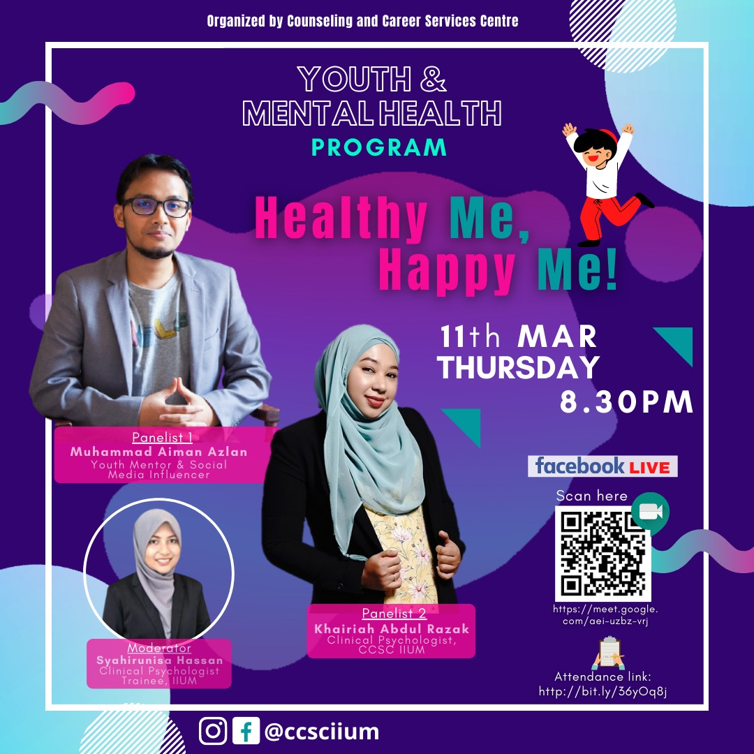 Youth and Mental Health Programme: HEALTHY ME, HAPPY ME