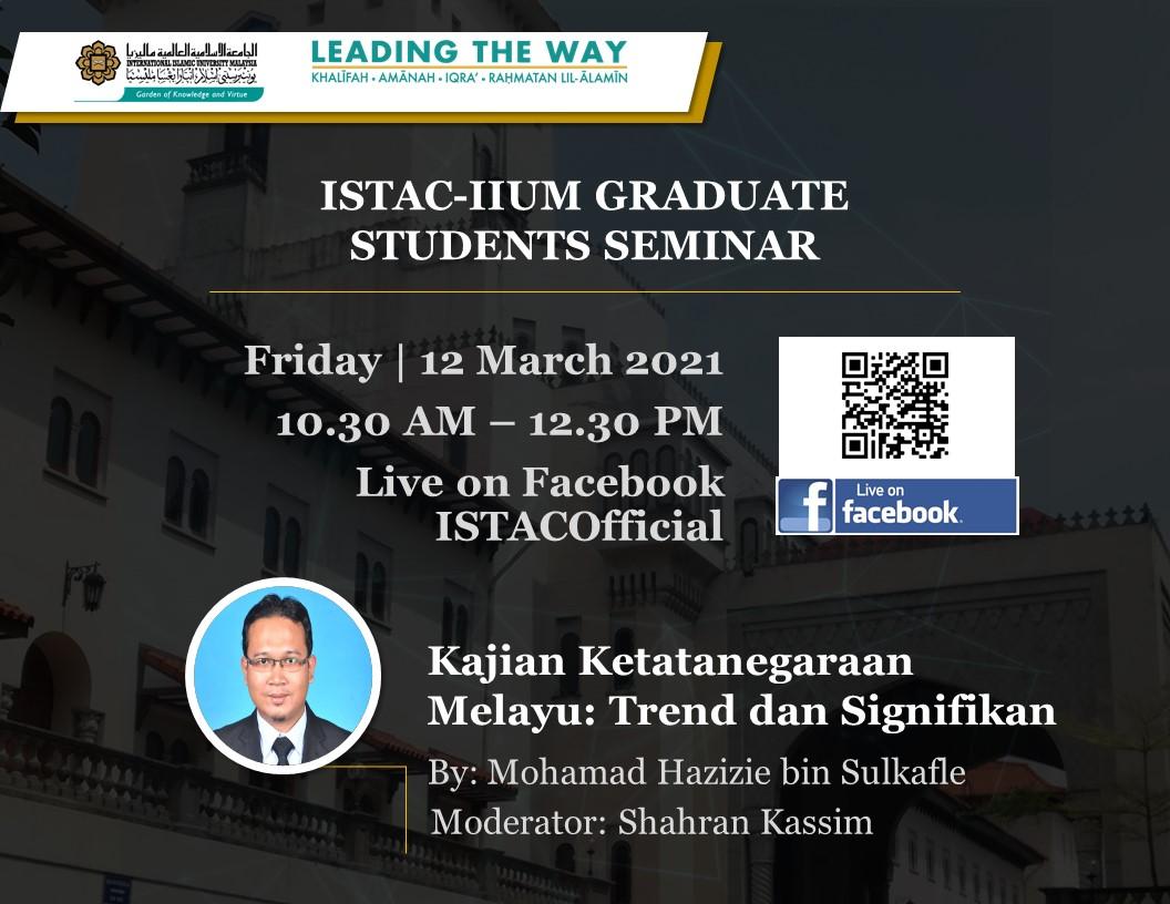 ISTAC-IIUM GRADUATE STUDENTS SEMINAR