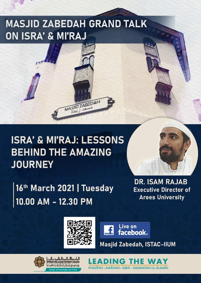 MASJID ZABEDAH GRAND TALK ON ISRA' & MI'RAJ